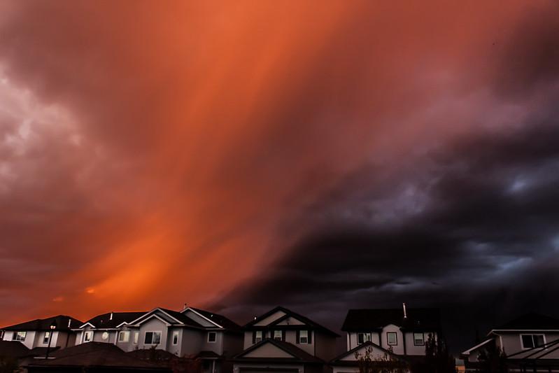 Crazy October Thunder Storm