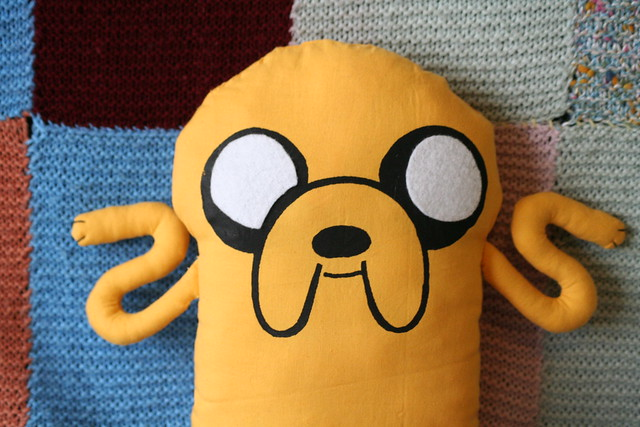 Handmade Plush Jake from Adventure Time
