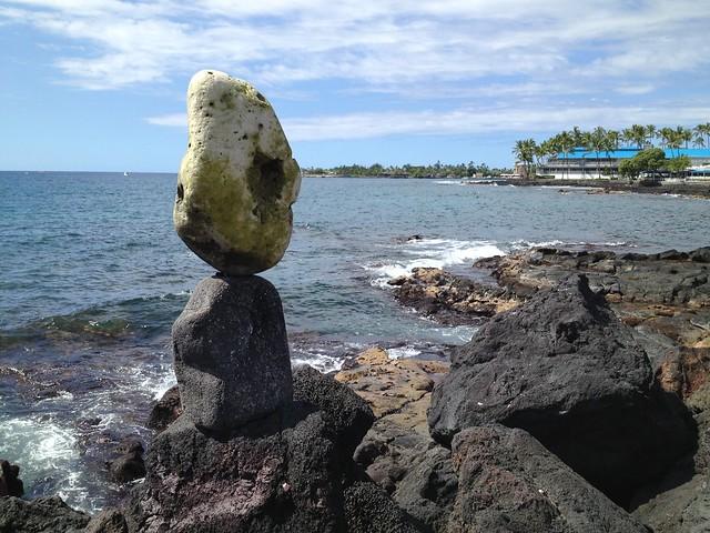 Stacked rocks, Kailua Bay