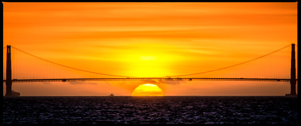 Gold Gate Bridge Sunset