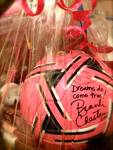 Win this Brandi Chastain Soccer Basket