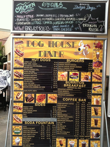 Dog House menu