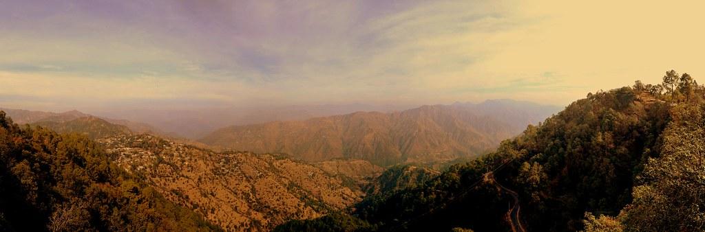 Panoramic View of Garhwal Hills