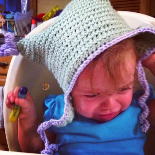 No #crochet #hat!  Ash doesn't like it :(