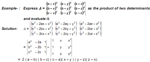 Product of Determinants