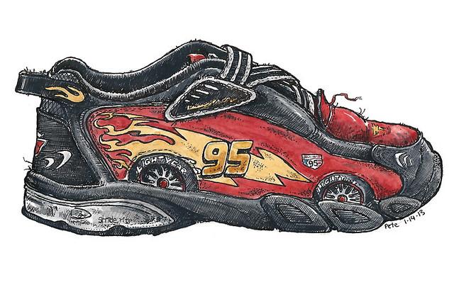 lightning mcqueen shoe
