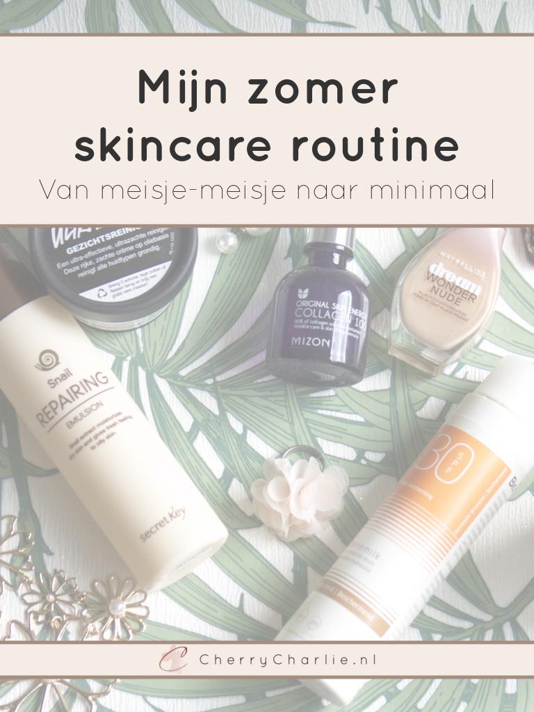 Mijn zomer skincare routine: Van meisje-meisje naar minimaal • CherryCharlie.nl