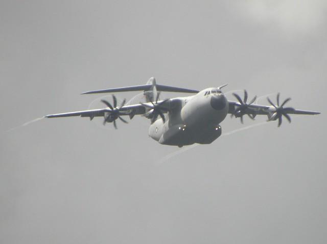 An Airbus A400M Military Transport at the 2010 Farnborough Airshow