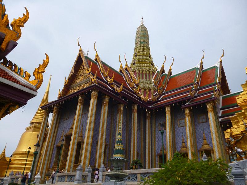 Violet building at Bangkok's Grand Palace
