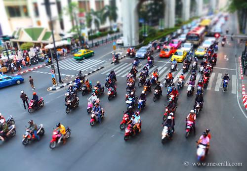 Motos en el centre de Bangkok