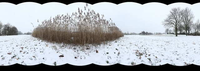 Het resultaat van een panorama met een verticaal geplaatste camera - Voorkomen van lange, smalle panorama foto's
