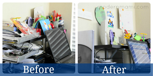 Before & After of Home Office Reorganization