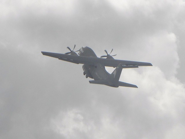 A Spanish military Alenia C-27J Spartan transport