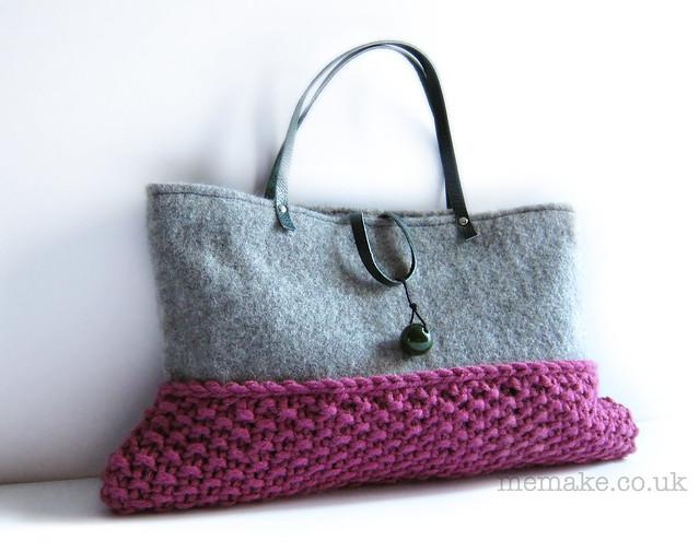 knitted wool bag by memake