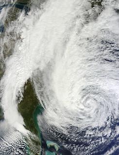 Hurricane Sandy off the Carolinas