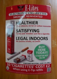Money Matters - The Tobacco Cigarette Versus The E-Cig.