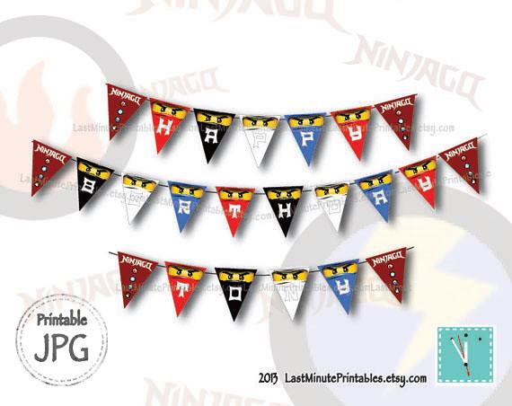 USD 4.99, ninjago banner, ninjago eye, ninjago invitation, ninjago patch, ninjago invite, ninjago cake, ninjago sticker, lego invitation