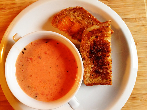 grilled cheese, tomato soup