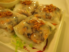 "Detail: Vietnamese steamed rice rolls ""Cheung fun"""