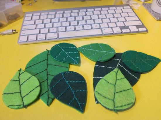 Felt Leaves