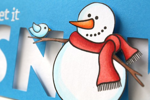 snowman & bird~Jane's Doodles