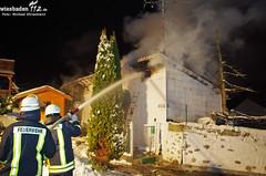 Gebäudebrand Hünstetten 21.01.13