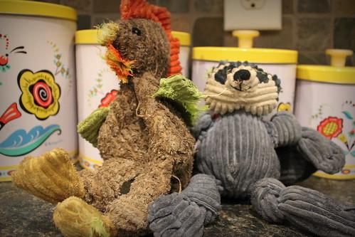 20130111. Birdie's toys looking a little worse for wear.