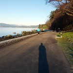 Running the Seawall in Stanley Park