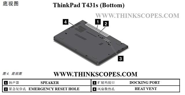 ThinkPad T431s bottom