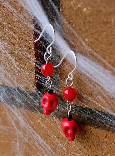 Red Skully Earrings