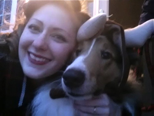 Ben & I last Halloween. Ben, the most tolerant collie in all the earth!