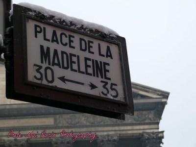 Paris Snow : Place de la Madeleine