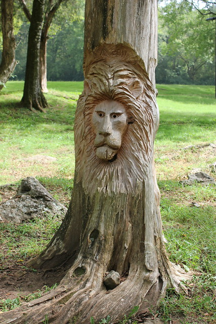 Tim Tingle's Carvings at Orr Park in Montevallo AL