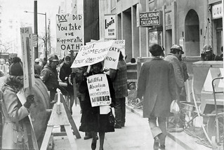 Pickets Outside Preterm Clinic: 1972