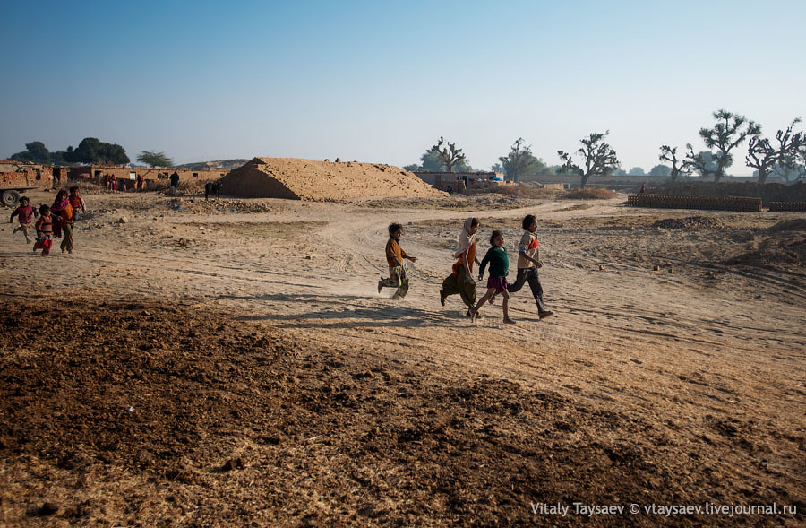 Children in Brick factory, Rajhastan