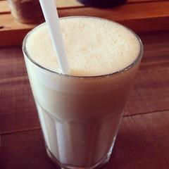 Banana nut milk from Little Bird Unbakery. #VeganMoFo