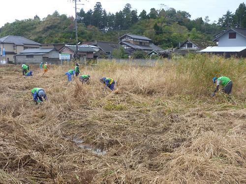南相馬市小高区でお手伝い (ボランティアチーム援人) Volunteer at Minamisoma (Fukushima pref.), Affrected by the Tsunami of Japan Earthquake and Fukushima Daiichi nuclear plant accident