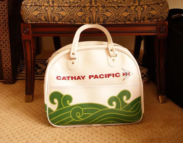 Cathay Pacific flight bag