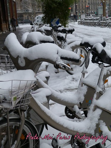 Velib in the snow