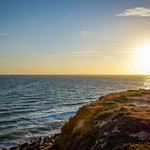 Setting Sun over the Sea