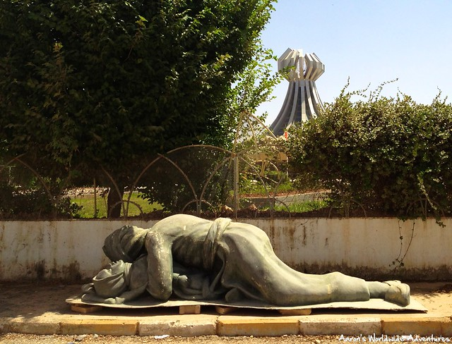 Sculpture at Halabja Massacre Memorial