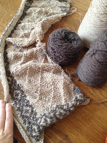 Fair Isle project in Beaverslide wool