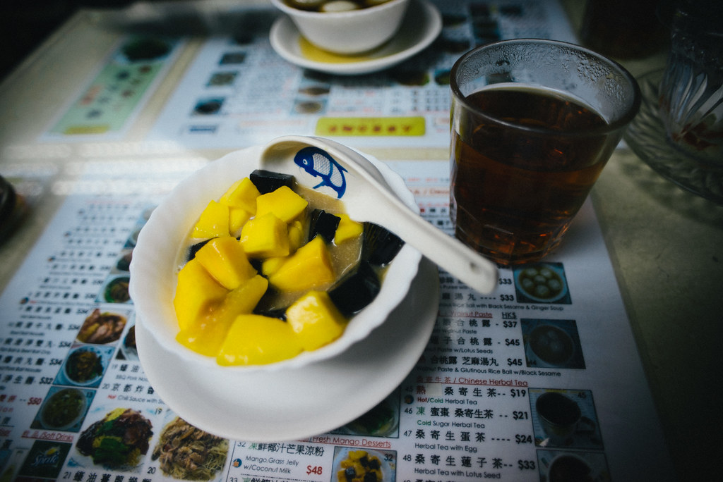 Mango and Grass Jelly in Hong Kong