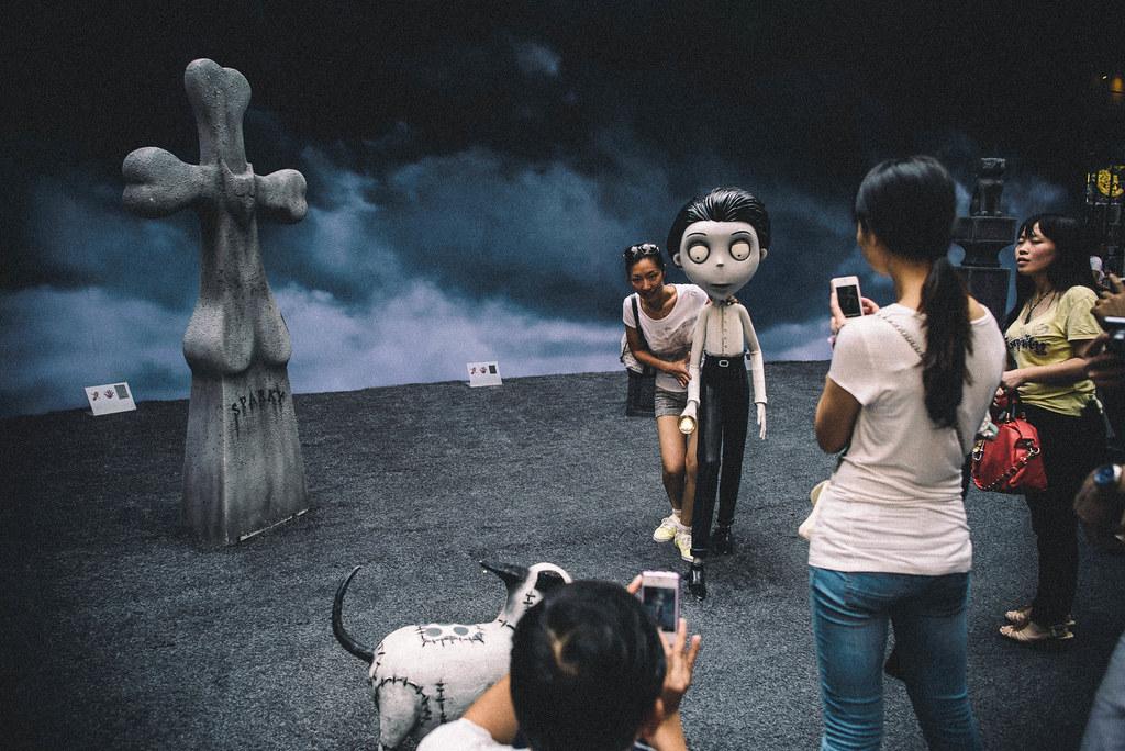 On the set of Frankenweenie?