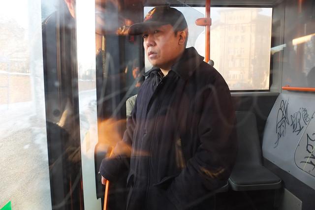 Bus stranger portrait