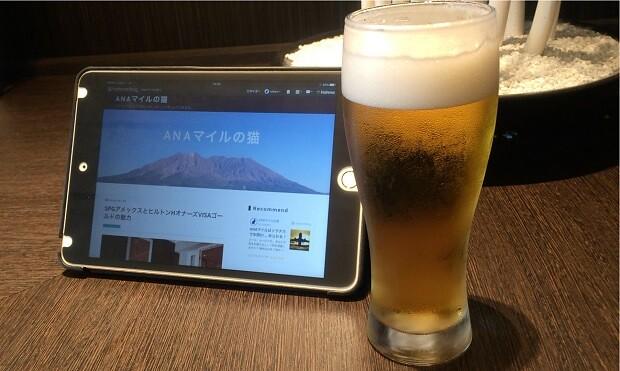 160817 羽田空港ANAラウンジBeer&Blog略してB&B
