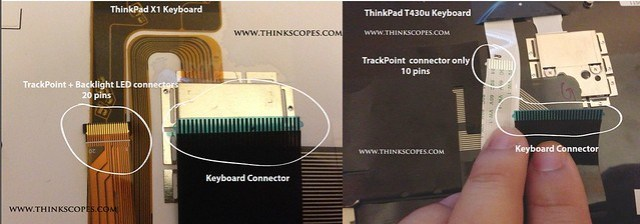 ThinkPad keyboard connector comparison