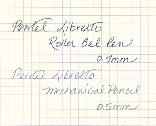 Pentel Libretto Written Sample