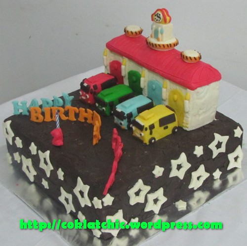 Cake Tayo the little bus