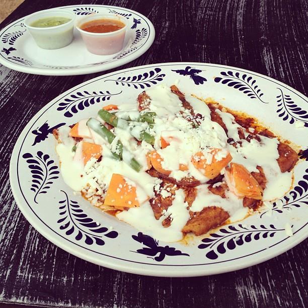Tacos potosinos = favorite thing to get here. #vegetarian